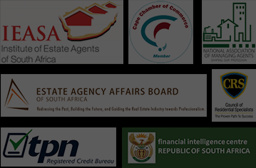Institute of Estate Agents of South Africa. Cape Chamber of Commerce. National Association of Managing Agents. Estate Agency Affairs Board. Council of Residential Specialists. TPN Credit Bureau. Financial Intelligence Centre South Africa.